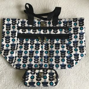 Lock It Super Tote Set.NWOT